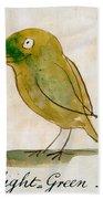 The Light Green Bird Bath Towel