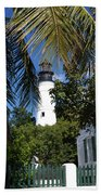 The Lighthouse In Key West II Bath Towel
