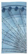 The Liverpool Wheel In Blues 2 Hand Towel