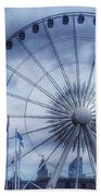 The Liverpool Wheel In Blues Hand Towel
