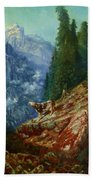 The Lost Cow 1852 Bath Towel
