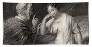 The Love Letter Engraved By Charles Bath Towel
