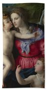 The Madonna And Child With Saints Bath Towel