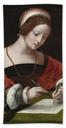 The Magdalene Writing A Letter Bath Towel