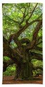 The Magical Angel Oak Tree Panorama  Bath Towel