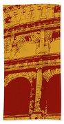 The Majestic Colosseum Of Rome Bath Towel