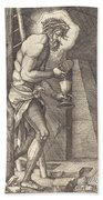 The Man Of Sorrows At The Foot Of The Cross Bath Towel