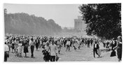 The March On Washington  Heading Home Hand Towel
