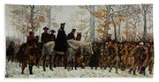 The March To Valley Forge, Dec 19, 1777 Bath Towel