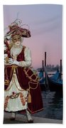 The Masks Of Venice Carnival Bath Towel