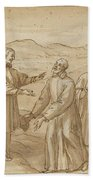 The Meeting Of San Carlo Borromeo And San Filippo Neri Bath Towel