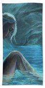 The Mermaid Of The Blue Cave Bath Towel