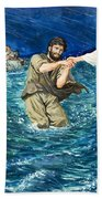 The Miracles Of Jesus Walking On Water  Hand Towel