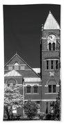 The Monongalia County Courthouse - Morgantown West Virginia Bath Towel