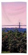 The Mt Hope Bridge Bristol Rhode Island Bath Towel