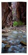 The Narrows, Zion National Park, Utah Bath Towel