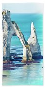 The Needle Of Etretat Bath Towel