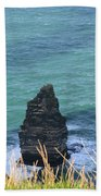 The Needle Off The Cliff's Of Moher In Ireland Bath Towel