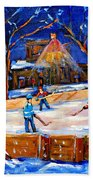The Neighborhood Hockey Rink Bath Towel