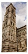 The Neo Gothic Facade Of The Duomo In Florence Bath Towel