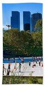 The New York Central Park Ice Rink  Bath Towel