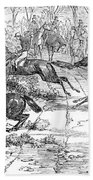 The Newport Pagnel Steeple Chase Bath Towel