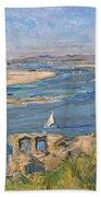The Nile Near Aswan Bath Towel