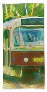 The No. 13 To Cernokostelecka Bath Towel by Leigh Kemp