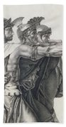 The Oath Of The Horatii, Detail Of The Horatii  Bath Towel