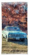 The Old Ford On The Side Of The Road Bath Towel