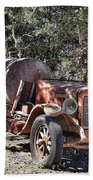 The Old Jalopy In Wine Country, California  Bath Towel