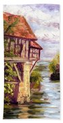 The Old Mill Of Vernon Bath Towel