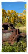The Old Truck  Chama New Mexico Bath Towel