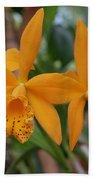 The Orange Orchids Bath Towel