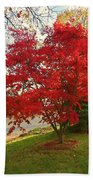 The Painted Leaves Bath Towel