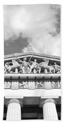 The Parthenon In Nashville Tennessee Black And White 2 Bath Towel