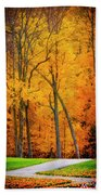 The Path To Autumn Hand Towel