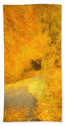The Pathway Of Fallen Leaves Hand Towel