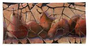 The Pears Fresco With A Crackle Finish Bath Towel