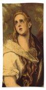 The Penitent Magdalene 1578 Bath Towel
