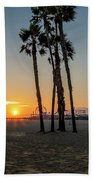 The Pier At Sunset Bath Towel