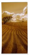 The Ploughed Field Bath Towel
