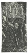 The Ploughman Christian Ploughing The Last Furrow Of Life Bath Towel