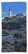 The Portland Lighthouse Bath Towel