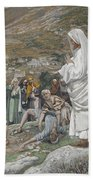 The Possessed Boy At The Foot Of Mount Tabor Bath Towel