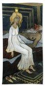 The Princess And The Troll Bath Towel