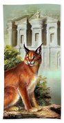 The Protector Of The City Of Petra Hand Towel