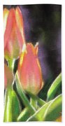 The Queen's Tulips Bath Towel