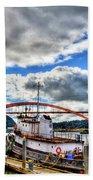 The Rainbow Bridge - Laconner Washington Bath Towel
