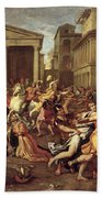 The Rape Of The Sabines Bath Towel